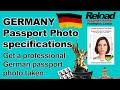 German Passport Photo & Visa Photos for Germany snapped in Paddington @ Reload Internet