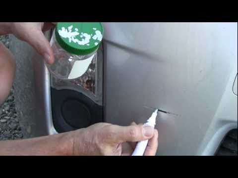 How To Use a Touch Up Paint Pen - Bumper Paint Scratch Repair on a Toyota Prius
