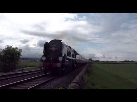 34046 Braunton aka 34052 Lord Dowding on North Wales Coast Express Steam Flint