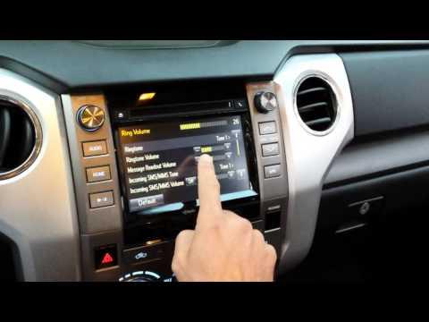 Toyota Phone/Message Settings