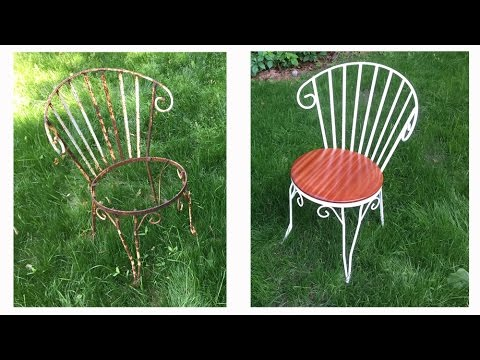 Re Old Wrought Iron Chairs The Short Version