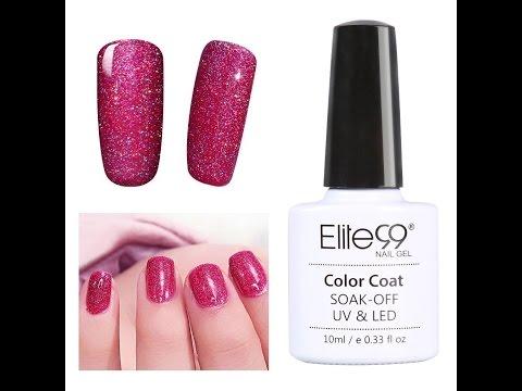 Elite99 Soak Off UV LED Bling Neon Gel Nail Polish Nail Art Tutorial