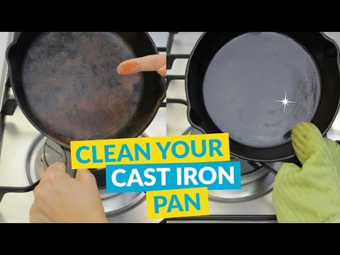 How to Clean and Season a Rusty Cast Iron Pan (in Under a Minute!)