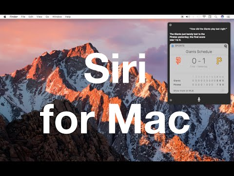 First look: Siri for your Mac on macOS Sierra!