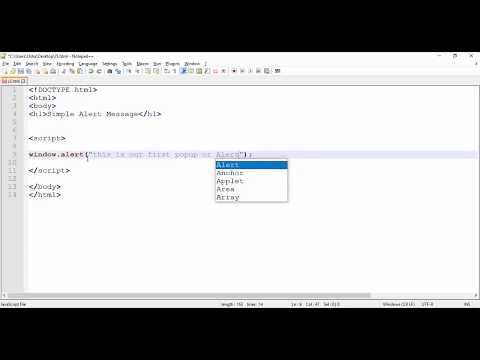 JavaScript - Display Popup or Alert Message in JavaScript