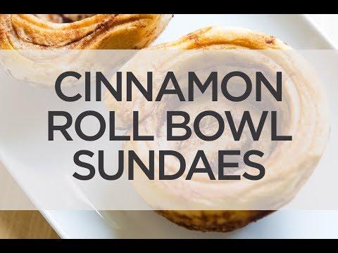 Cinnamon Roll Bowl Sundaes