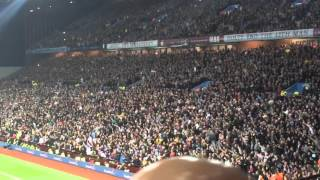 The Holte End / Villa fans Singing Aston Villa Vs Birmingham City