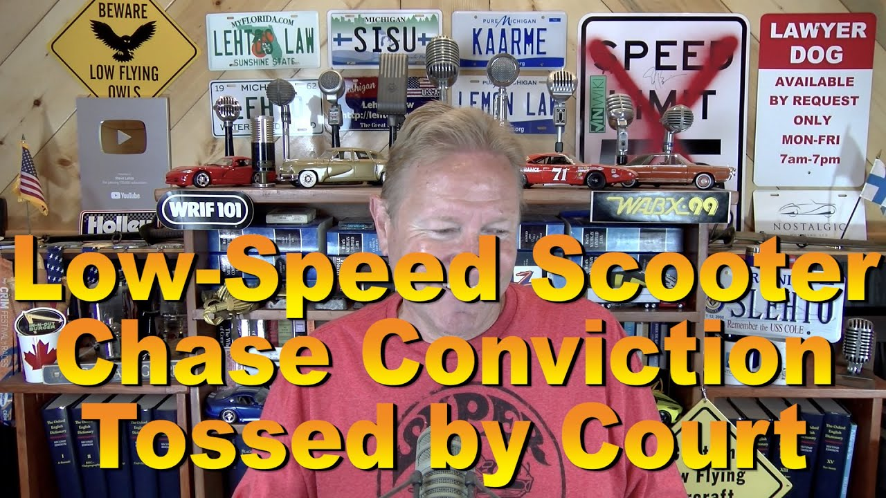 Low-Speed Mobility Scooter Chase Conviction Tossed