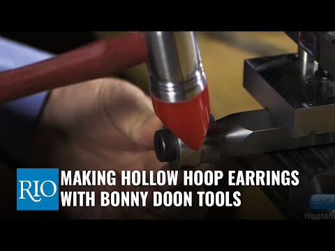 Making Hollow Hoop Earrings with Bonny Doon Tools