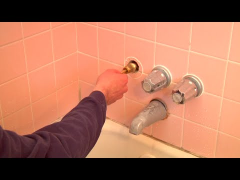 Fixing a Dripping Shower Head (changing faucet valve washer)