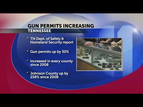 Report: Gun permits are on the rise in Tennessee