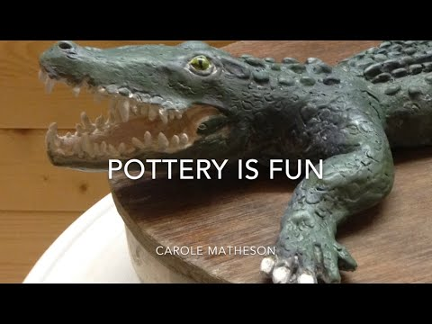 Pottery:Making Animals - How to Make. Crocodile - Pottery Is Fun