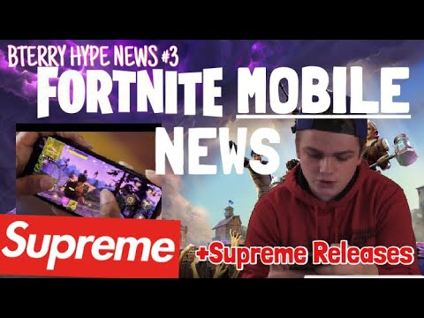 SUPREME DROP EARLY INFO! +FORTNITE MOBILE NEWS UPDATE