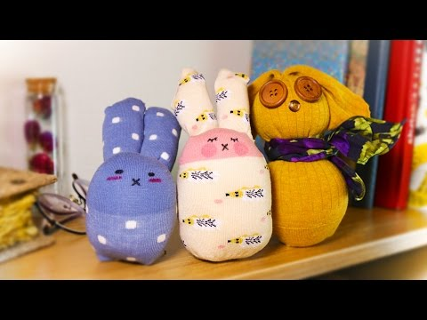 3 different ways to make DIY sock bunny doll (No sew) Easter craft idea
