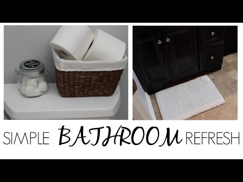 SIMPLE BATHROOM REFRESHES: Toilet, Towel & Rug