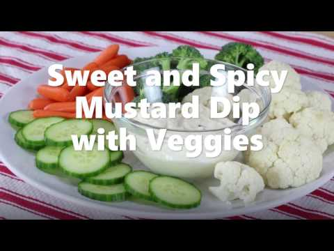 Sweet and Spicy Mustard Dip with Veggies