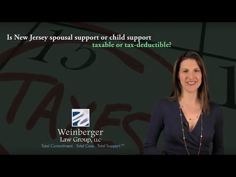 FAQ  Is New Jersey spousal support or child support taxable or tax deductible?