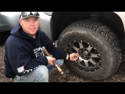 How to remove keyed lug nuts without the key!