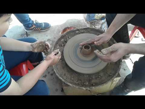 How to make Clay pot - Learning the art of clay pottery