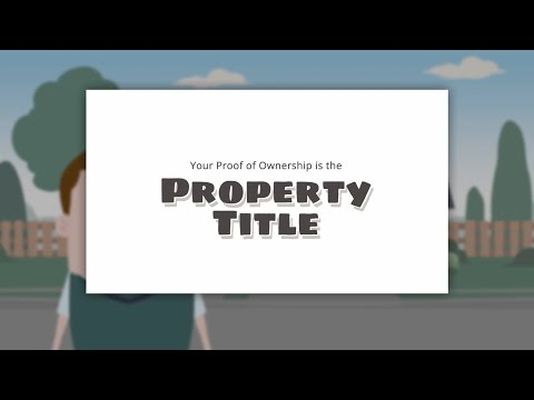 Your Proof of Ownership Is the Property Title