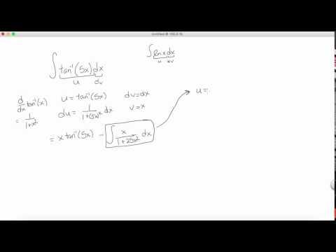 Integral of arctan(5x)