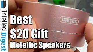 Best Tech Gift Under $20- Metallic Bluetooth Speakers By Unitek | Intellect Digest
