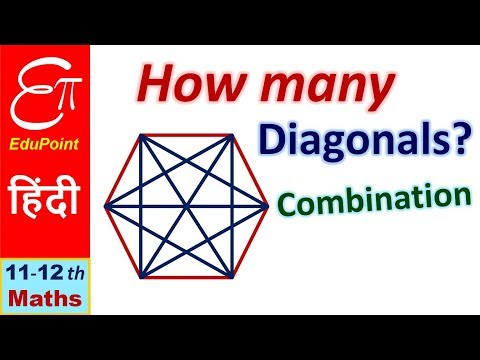 🔴 Number of DIAGONALS of a POLYGON || P&C - 09 || in HINDI