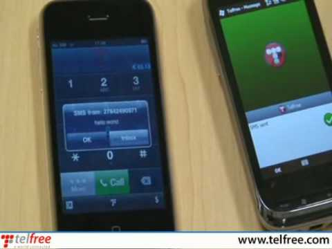 iPhone application with push calls and free sms - brought to you by Telfree