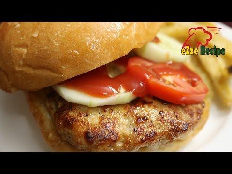 সিম্পল চিকেন বার্গার রেসিপি | Simple Chicken Burger Recipe