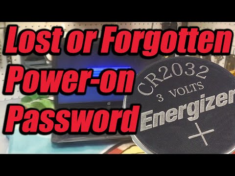 Lost Or Forgotten Power On Password Fix For A Laptop