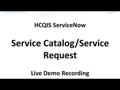 Service Catalog Service Request Live Demo Recording WebEx