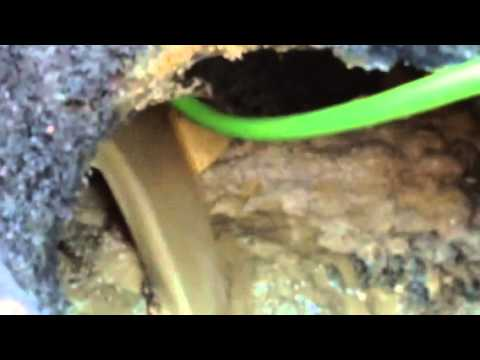 Sewer line clean out high pressure jetter