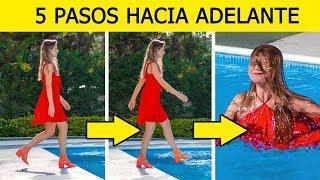 ¡DESAFÍO DE LOS 5 PASOS! || BROMAS DIVERTIDAS Y SITUACIONES INCÓMODAS por 123 GO! CHALLENGE SPANISH