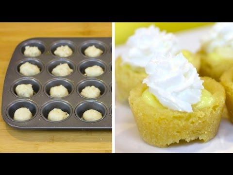 Mini Banana Cream Pie Cookie Cups