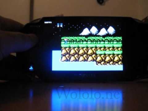 NesterJ (NES emulator) running on the PS Vita 2.12