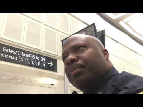 Houston Airport PD Senior Officer E. Jones #5281 upholds the right to film TSA