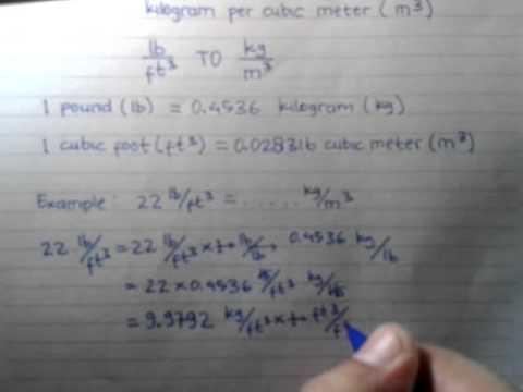 z93UNIT CONVERSION pound per cubic foot To kilogram per cubic meter