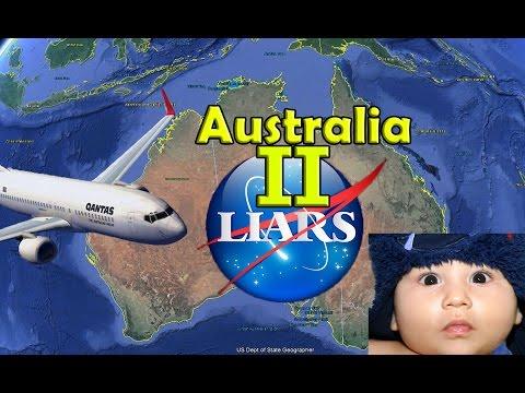Australia Flight routes Alaska NASA Baby Flat Earth