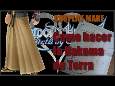 COSPLAY MAKE /Como hacer el Pantalon hakama de Terra KH (PATRÓN)