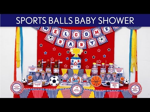 Sports Balls Baby Shower Ideas // Sports Balls - S45