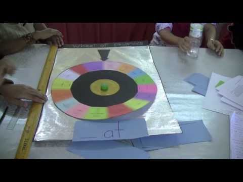 How to make a Wheel of Fortune-style phonics wheel