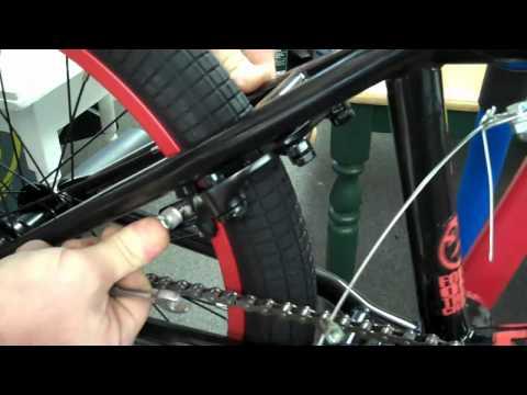 Final brake adjustment on our BMX bike build