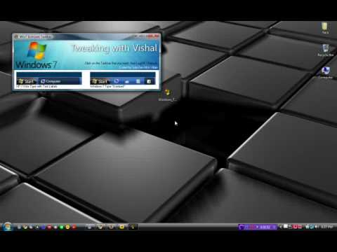 how to change your windows vista or XP icons to the windows 7 icons