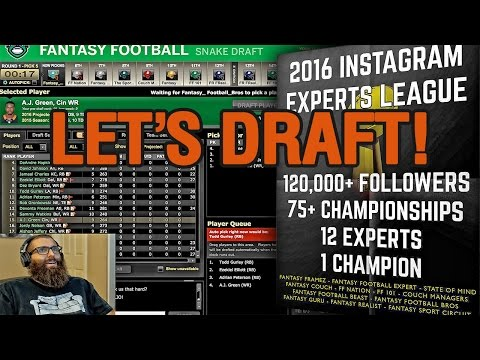 ESPN Fantasy Football Draft 2016