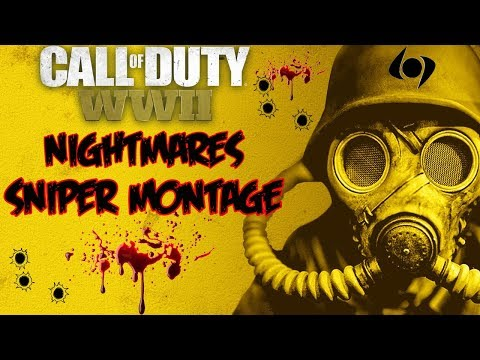 *NIGHTMARES* A *COD WW2 SNIPER MONTAGE* (SNIPING FOR DOM) MUST WATCH