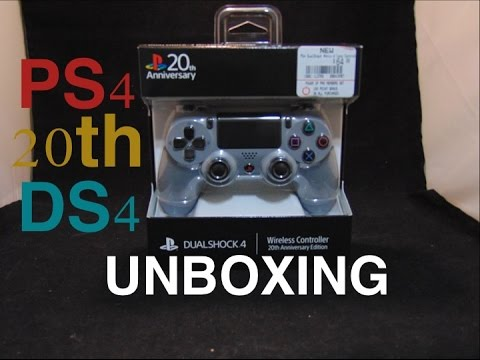 Unboxing of PS4's 20th Anniversary Edition Dualshock 4 Controller