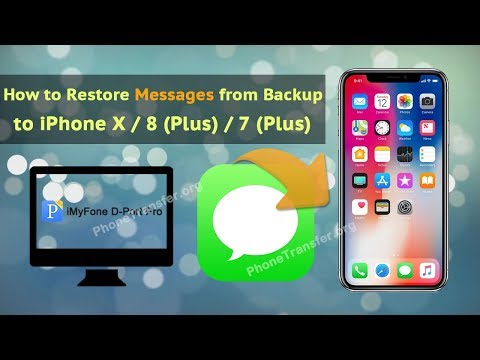How to Restore Messages from Backup to iPhone X / 8 (Plus) / 7 (Plus)