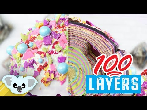 100 Layer Cake Pop | 100 Layers of Candy Melt