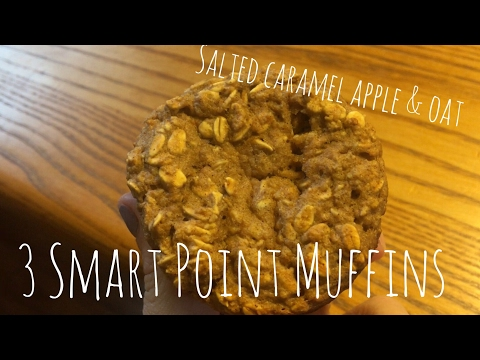 3 Smart Point Salted Carmel Oatmeal Muffins
