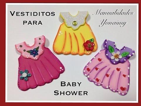 Vestidito Para Baby Shower Hecho Con Foamy O Goma Eva Playithub